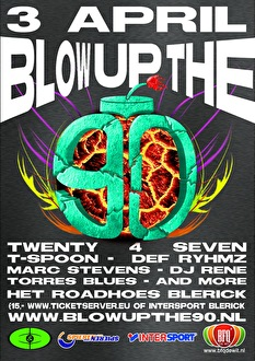 Blow up the 90's (flyer)