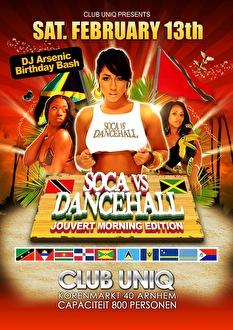 Soca vs Dancehall (flyer)