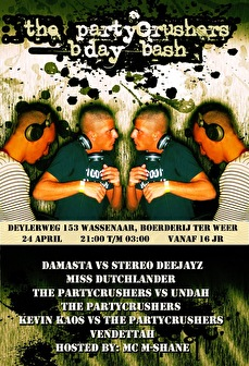 The Partycrushers B'day Bash (flyer)