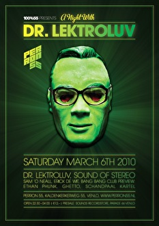 A night with Dr. Lektroluv (flyer)