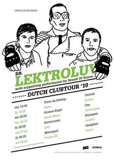 A night with Dr Lektroluv (flyer)