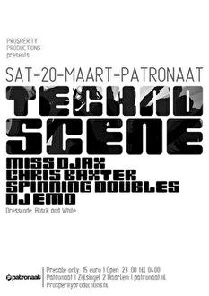 Techno Scene (flyer)