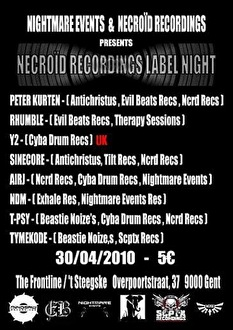 Necroïd Recordings Labelnight (flyer)