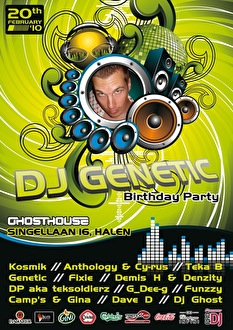 Genetic B-Day Party (flyer)