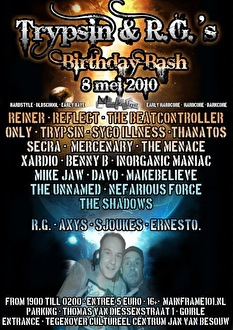 Trypsin & R.G.'s Birthday Bash (flyer)