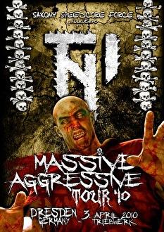 TNI Massive Aggressive Tour '10 (flyer)