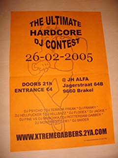 The ultimate hardcore dj contest (flyer)