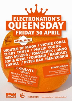 Electronation's Queensday (flyer)