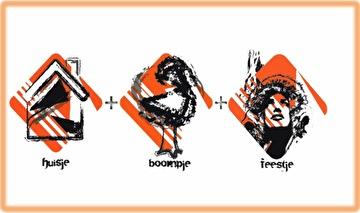 Huisje Boompje Feestje (flyer)