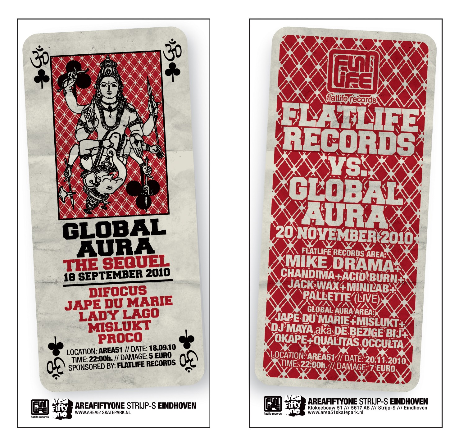 flyer Flatlife Records vs Global Aura