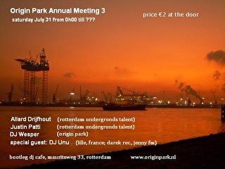 Origin park annual meeting - Tickets, line-up & info