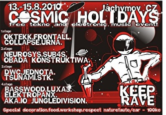 Cosmic Holidays (flyer)