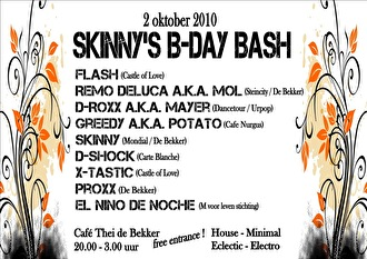Skinny's B-Day Bash (flyer)