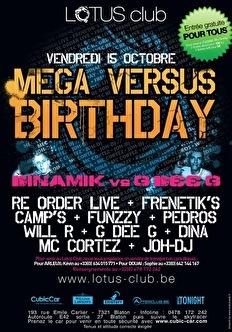 Mega versus bday (flyer)