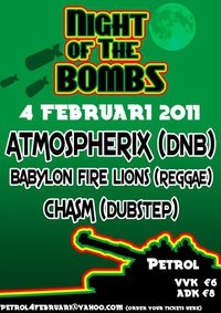 Night of the Bombs (flyer)