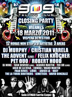 SOS Techno Club (flyer)