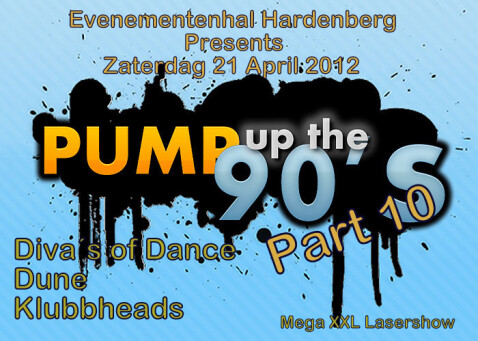 flyer Pump up the 90's