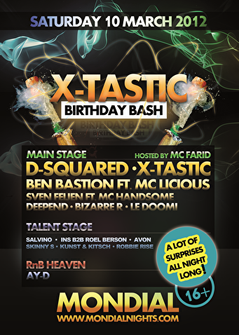 X-Tastic Birthday Bash (flyer)