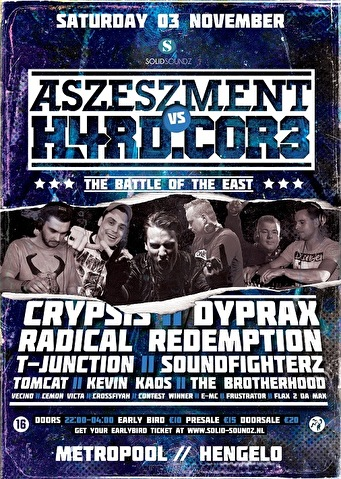 Aszeszment vs H4RD.COR3 (flyer)