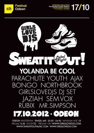 GirlsLoveDJs vs Sweat It Out Music! ADE special (flyer)