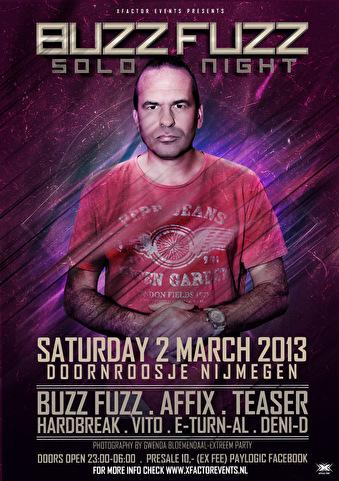 DJ Buzz Fuzz solo night (flyer)