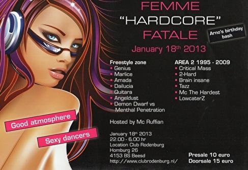 flyer Femme 'Hardcore' Fatale