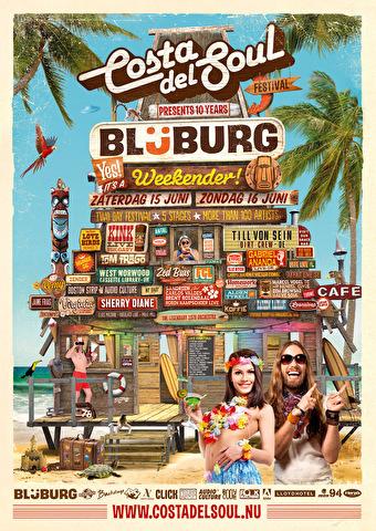 10 jaar Blijburg (flyer)