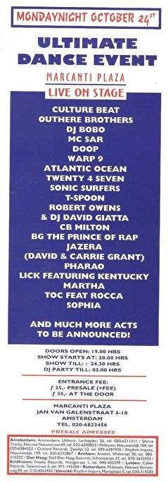 Ultimate Dance Event (flyer)