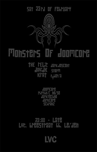 Monsters of Doomcore (flyer)