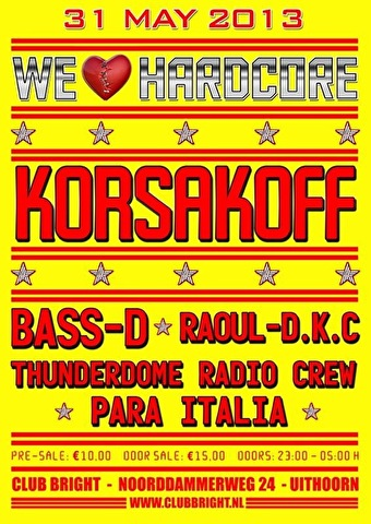 flyer We Love Hardcore