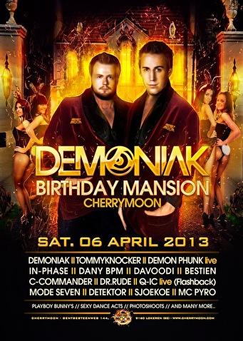 Demoniak Bday Mansion (flyer)