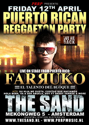 Puerto Rican Reggaeton Party (flyer)