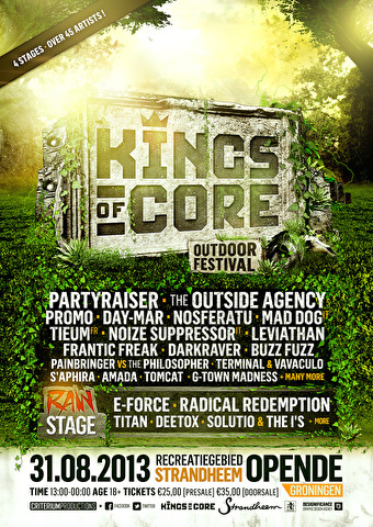 flyer Kings of Core Festival