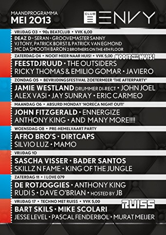 Bevrijdingsfestival the Afterparty (flyer)