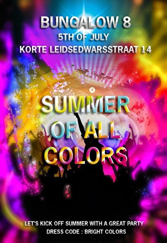 The Summer of Colours (flyer)