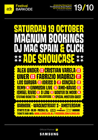 Magnum Bookings, DJ Mag Spain & Click (flyer)