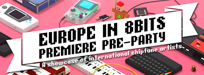 Europe in 8 Bits preparty (flyer)
