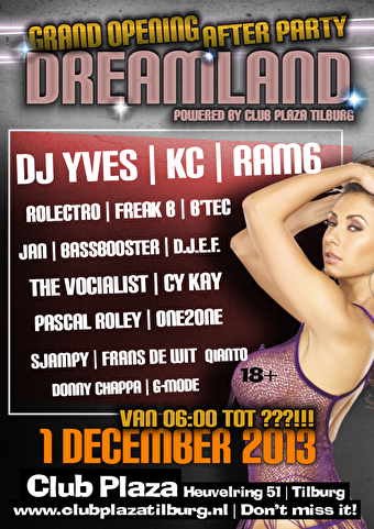 flyer Grand Opening Afterparty Dreamland