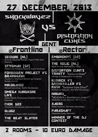 Shockwavez vs Distortion Cunts (flyer)
