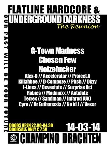 Flatline Hardcore & Underground Darkness (flyer)