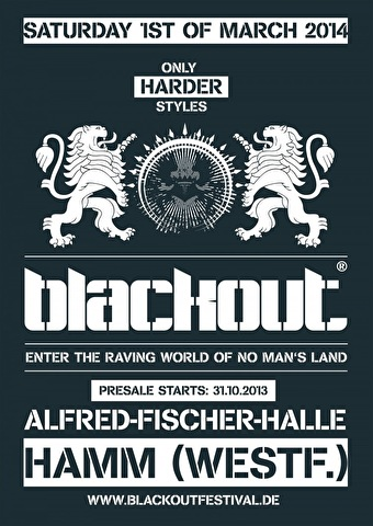 flyer Blackout Festival