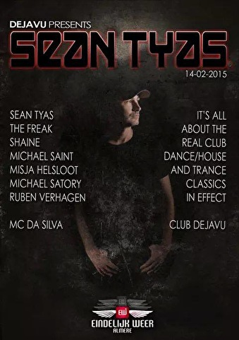 flyer Deja vu presents Sean Tyas