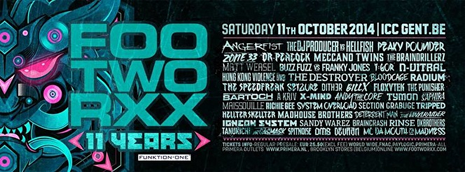 Footworxx 11 Years (flyer)