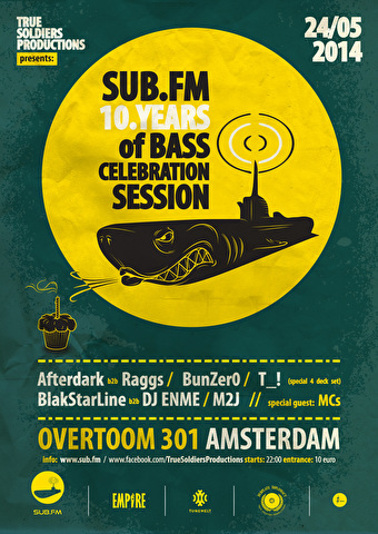 SUB.FM 10 years of Bass (flyer)