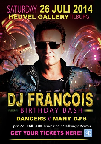 flyer DJ Francois Birthday Bash 2014