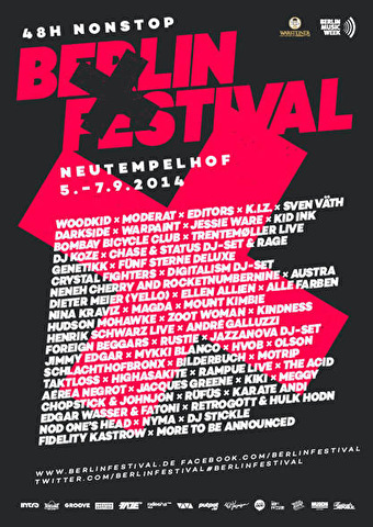 Berlin Festival 2014 - Tickets, line-up, timetable & info