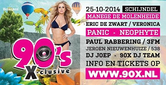 90's X-clusive 2014 (flyer)