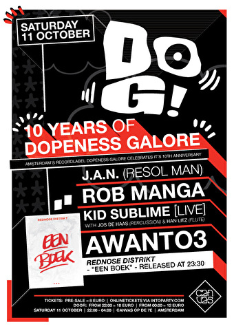 10 Years of Dopeness Galore (flyer)