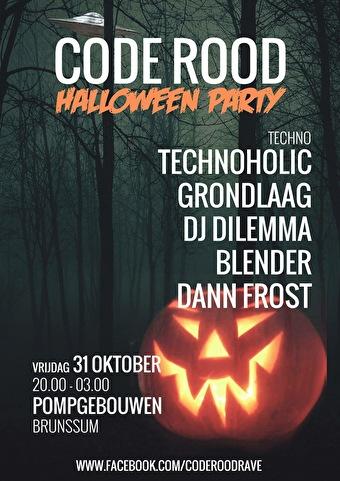 31 Oktober Halloween Feest.Leeftijdverdeling Code Rood Halloween Party 31 Oktober