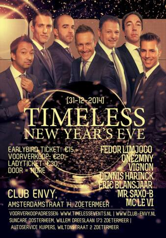 flyer Timeless New Years Eve